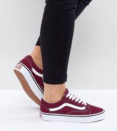 0b0eb77bbd Vans Old Skool Unisex Sneakers In Burgundy