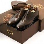 Zapato Oxford full brogue new black marrón chocolate de cordones