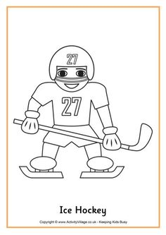 Are winter sports your thing? Here you can find printable coloring pages for a lot of winter sports. Share with your sponsored child why you like this particular winter sport. Olympic Idea, Olympic Sports, Olympic Games, Hockey Party, Ice Hockey, Olympic Crafts, Drawing Lessons For Kids, Pyeongchang 2018 Winter Olympics, Winter Art Projects