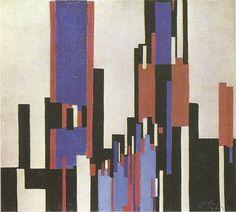 Frantisek KupkaPlans verticaux bleus et rouges / Vertical blue and red planesHuile sur toile / Oil on canvas72 x 80 cm1913