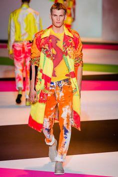 Tendances hommes - Les imprimés de l'été 2014 - Le défilé Versace printemps-été 2014