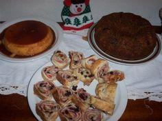 Navidad!  Torta negra, Pan de jamón y un buen quesillo.