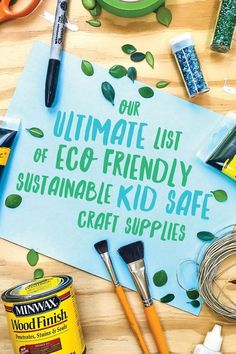 Our enormous list of healthier and more eco-friendly alternatives to every common craft supply in your home, school or business! | via barley & birch