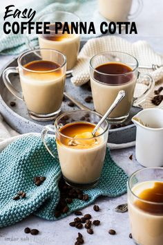 If Youre Looking For Your Coffee Hit In Dessert Form, This Coffee Panna Cotta Should Be At The Top Of Your List. Under 20 Minutes Effort, Espresso, Cream And Sugar Are All You Need For This Luxurious No Bake Coffee Dessert. Dessert Simple, Bon Dessert, Coffee Dessert, Dessert Pasta, Smores Dessert, Easy Dinner Party Desserts, Make Ahead Desserts, Köstliche Desserts, Plated Desserts