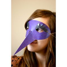 ooh I need something for my office masquerade.. {bird mask digital download $.99}
