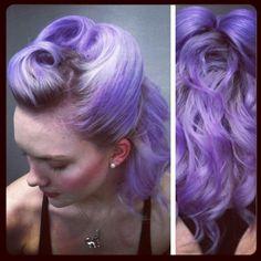lilac hair by @Patricia Smith Jastrzebski