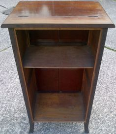 the back of the gramophone cabinet