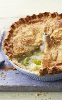 Mary's cheaty puff pastry for this homemade vegetarian leek and potato pie is genius.