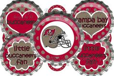 #DIY JEWELRY Tampa Bay Buccaneers Inspired Bottle Cap Images  Digital Collage  Instant Download $2.00