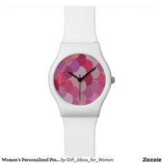 Women's Personalized Pink Mermaid May 28th Watch #watches #giftsforher #personalizedgifts #mermaid #pink #customgifts