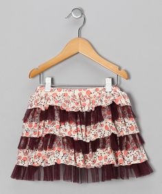 Here's a whimsical skirt for any little dreamer. With tiers of cotton and ruffled tulle, it also boasts an elastic waistband to keep its wearer comfortable. Cotton / polyesterMachine wash; hang dryImported