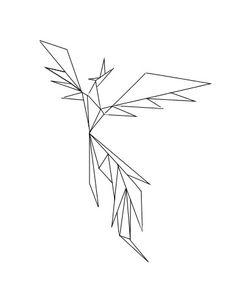 #tattoo #phoenix #geometric #ideas #small