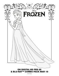 Frozen~Elsa Coloring Sheet