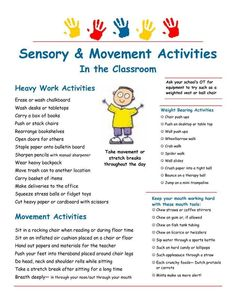 A resource for parents who are looking for occupational therapy activities that can be done at home and with household materials. Skill areas include fine motor, visual motor, crossing midline, self help skills, sensory processing and handwriting. Sensory Motor, Autism Sensory, Sensory Diet, Sensory Issues, Sensory Play, Sensory Tools, Work Activities, Music Activities, Calming Activities