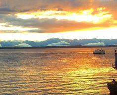 Puget Sound Ferry sunset   By Chandni Ramwani
