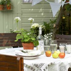 Garten Terrasse Wohnideen Möbel Dekoration Decoration Living Idea Interiors home garden - Land Freien unterhaltsamen Bereich