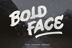Bold Face is hand painted typeface designed to help you create the look of stunning custom hand-lettering.Bold Face is very best choice fonts for : ,quotes, Posters, Logos, Print Ads, Digital Ads, Promotion Product, video bumper, etc
