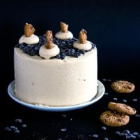 Chocolate Chip Cookie Dough Layer Cake - Crumbs and Corkscrews