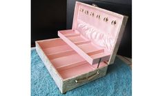 1950s Jewelry Box with Atomic artistic flair lined by fifisfinds