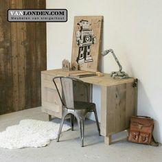 Bureau van steigerhout ... www.vanlonden.com