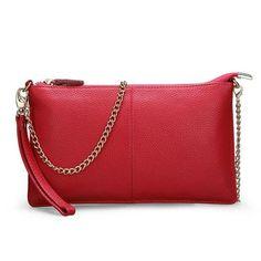 Classic Simple Clutch - Genuine Leather