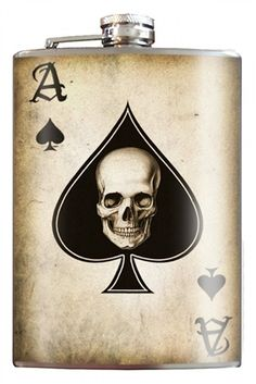 Ace of Spades Flask - Tattoo Golf Clothing