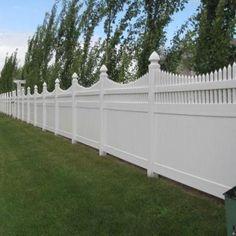 Weatherables Harrington 6 ft. x 8 ft. White Vinyl Privacy Fence Panel-PWPR-OTS-6X8 - The Home Depot