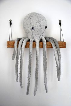 S*A*L*E OverSized Handmade Plush-Octopus Stuffed Animal// Eco-Friendly// Natural Materials// Minimalistic cute creature For a Modern Nursery
