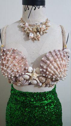 Mermaid seashell bra by ellewalkeracc on Etsy