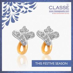 Gold Diamond Earrings, Festive, Jewelry Design, Seasons, Jewels, Accessories, Collection, Jewerly, Seasons Of The Year