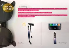 Sun Glasses to Charge your Smart Phone