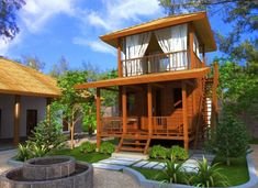 [ Bahay Kubo Designs In The Philippines Blueprint Ofw ] - Best Free Home Design Idea & Inspiration Bamboo House Design, Tropical House Design, Bungalow House Design, Small House Design, Home Design, Design Design, Modern Wooden House, Small Wooden House, Modern Rustic