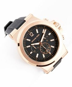 Pink & Black Gold Chronograph Watch