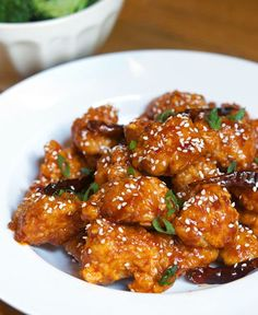 *reference for General Tso's style sauce, for vegetarian option use cauliflower or tofu in place of chicken