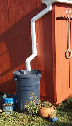 Guard'n The Planet: DIY Rainbarrel from a Trash Can