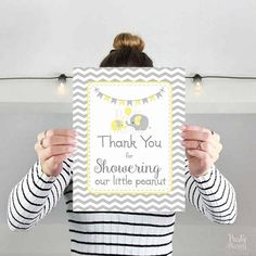 Baby Shower Printable Sign Thank You For Showering Our Little