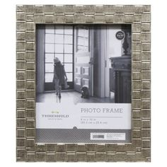 target threshold picture frame silver moss 8x10