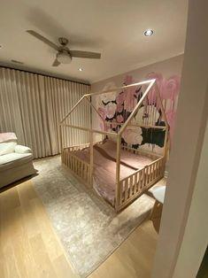 "QUEEN Size Toddler bed 60x80"" Teo Beds Kids Bed Frames, House Frame Bed, Montessori Bed, Painted Beds, Hardwood Furniture, Bed Rails, Nursery Crib, Kids Bedroom, Child Room"
