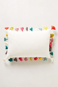 rainbow tassel pillow