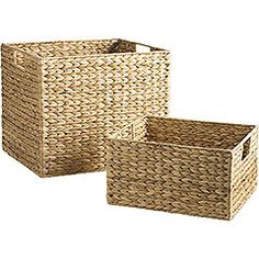 Waterhyacinth Baskets with Handles, Small $10.00, Large $20.00