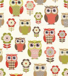 seamless owls cartoon background design royalty-free stock vector art