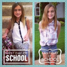 Her 1st and last day of School