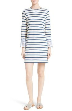 bc9f6a3975b Free shipping and returns on Sea Eyelet   Stripe Cotton Dress at  Nordstrom.com. Scalloped striped shirting detailed with pretty eyelets  peeks out from the ...