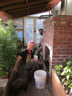 Mass Heater for a Greenhouse Using a Wood Stove | Hand Print Press