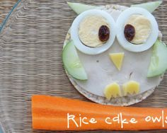 CUTE Rice Cake Owl! | Healthy Snacks | Kidspot Kitchen | #food #kidsfood #yum
