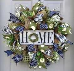 A personal favorite from my Etsy shop https://www.etsy.com/listing/494736986/home-rustic-burlap-deco-mesh-wreath