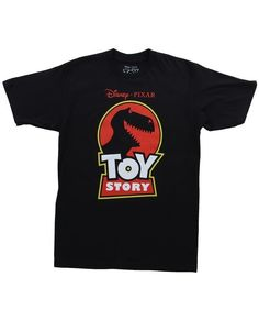 TOY STORY RED LOGO CREW JURASSIC PARK PARODY PIXAR ANIMATION BLACK T SHIRT S-3XL #ToyStory #GraphicTee