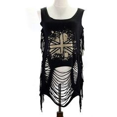 Fringed Ripped Tank Top