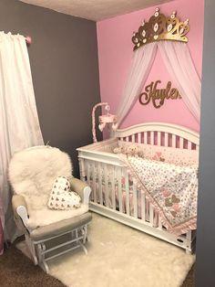 Crown Crib Canopy Bed Crown Gold Princess Wall Decor Baby Girl Nursery Decor, Baby Bedroom, Baby Room Decor, Girls Bedroom, Princess Nursery Theme, Nursery Bedding, Nursery Ideas, Room Ideas, Bed Crown