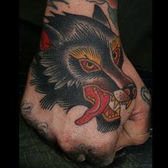 american traditional wolf   American Traditional Wolf Tattoo